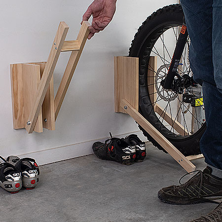 DIY Space Saving Bike Rack