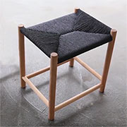 stool with weave top