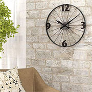 turn bicycle into wall clock