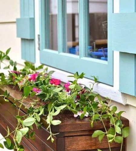 outdoor window planter boxes
