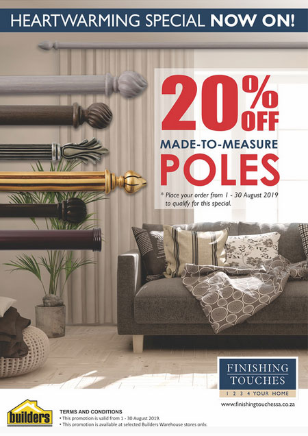 finishing touches special offers on all poles