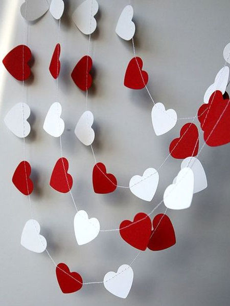 paper hearts for valentines day