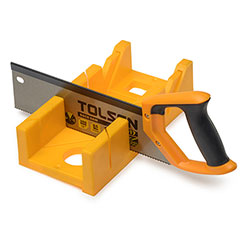 mitre box and backsaw