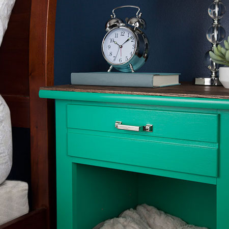 turn cabinet or bedside into bed for pet