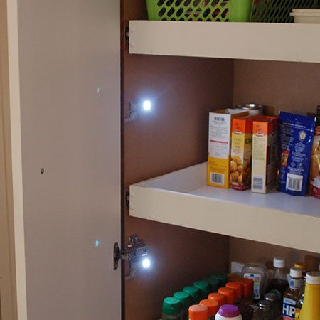 Home Dzine Kitchen Add Lighting To A Pantry Or Cupboard
