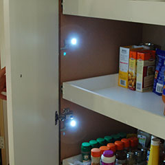 lighting a pantry