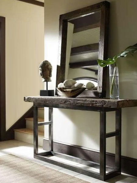 use furniture to display art and mirrors