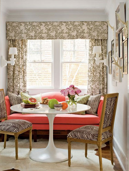 add colour, texture and pattern to rental home