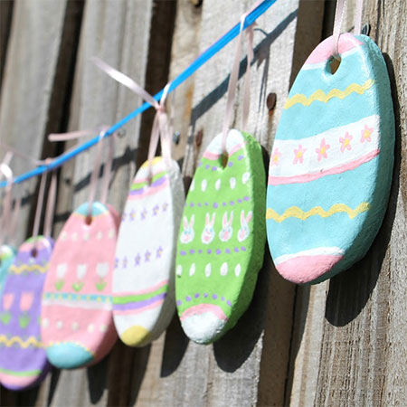 salt dough easter garland