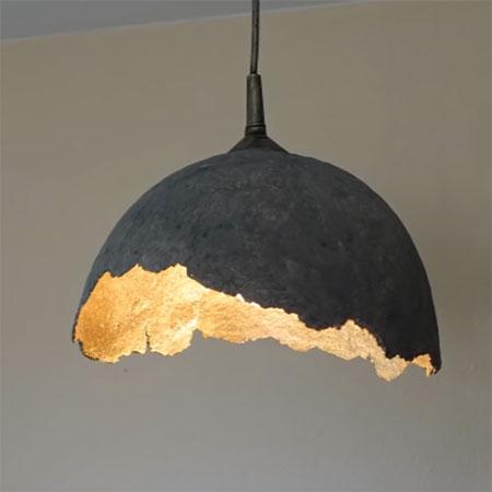Make Papermache Lampshade, Paper Mache Lamp