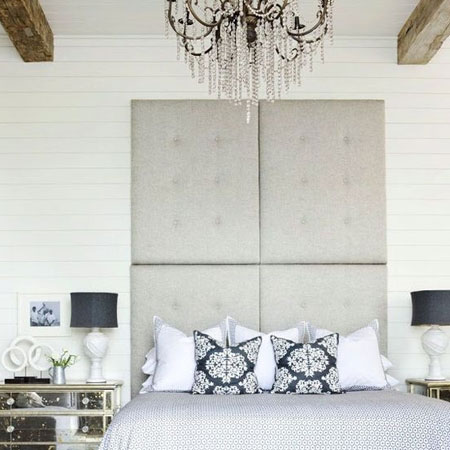 upholstered panel headboard floor to ceiling