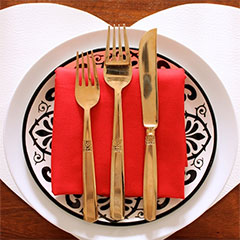 heart shaped placemats