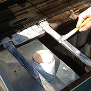 remove rust from gas grill or braai
