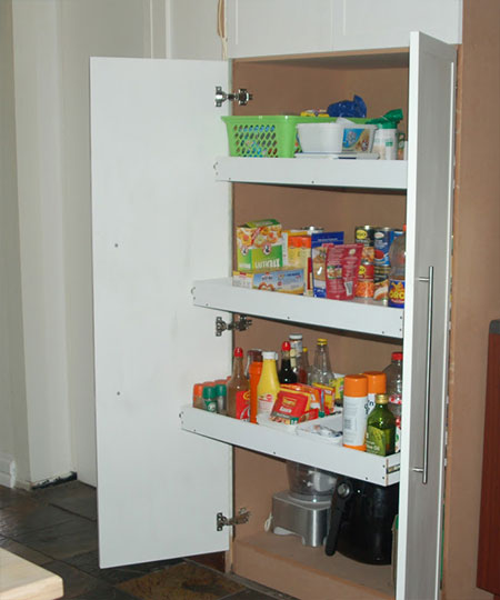 step by step Pullout Pantry for a Kitchen