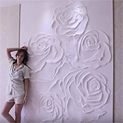 bas relief plaster wall panel