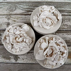 plaster dipped silk flowers