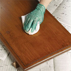how to apply wood stain