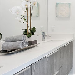 quartz for bathroom