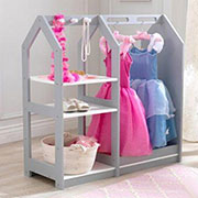 girls clothes or dress-up rack