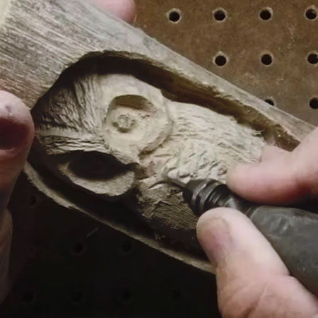 wood carving with Dremel multitool or rotary tool