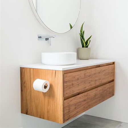 how to make floating bathroom vanity