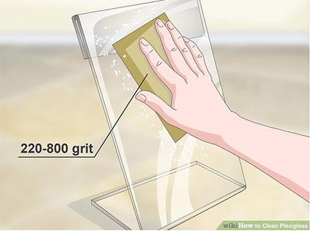 how to fix plexiglass scratches