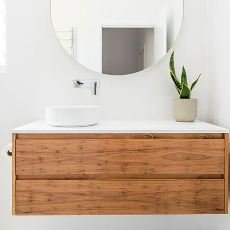 Home Dzine Bathrooms Make A Floating Bathroom Vanity
