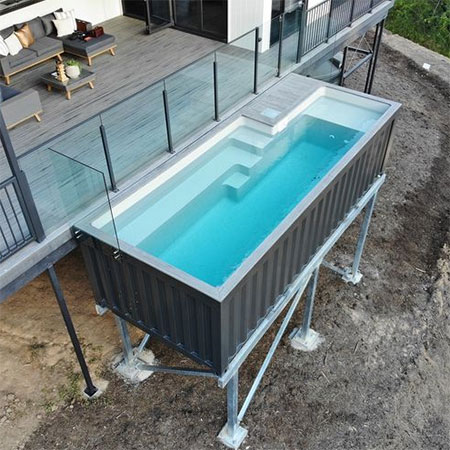 Shipping Containers converted into Swimming Pools