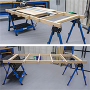 how to make a cutting support frame