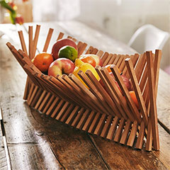 wood fruit holder