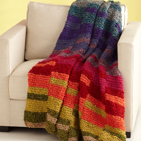 Knit a winter throw or blanket