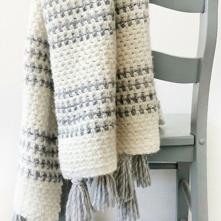crochet winter throw blanket