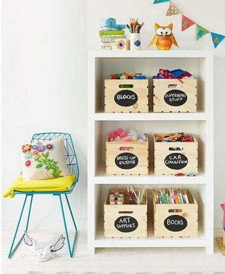 creative wall display for kids bedrooms
