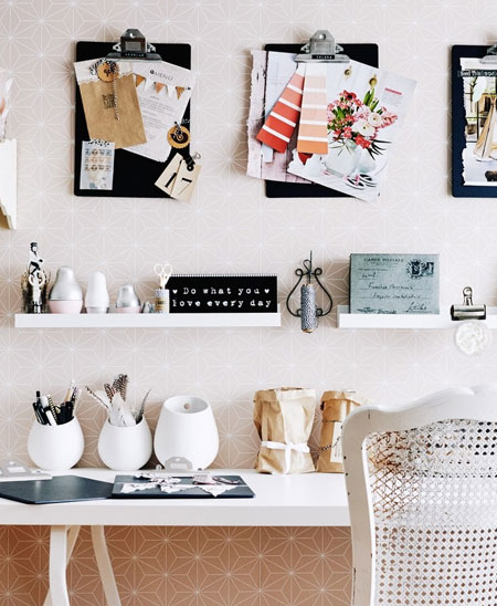 creative display for home office