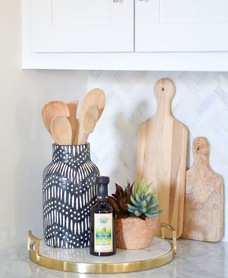 creative display for kitchen