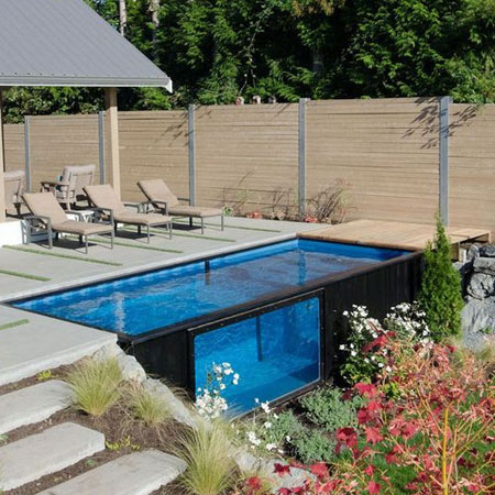 Home Dzine Garden Ideas Shipping Containers Converted Into Swimming Pools