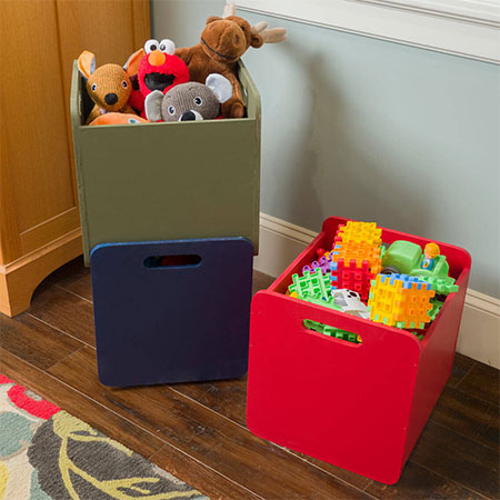 make a stackable toy box