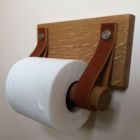 Home Dzine Bathrooms Weekend Project Wooden Toilet Roll Holder