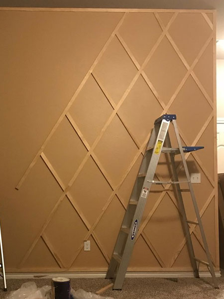 Add Faux Panelling to Boring Walls