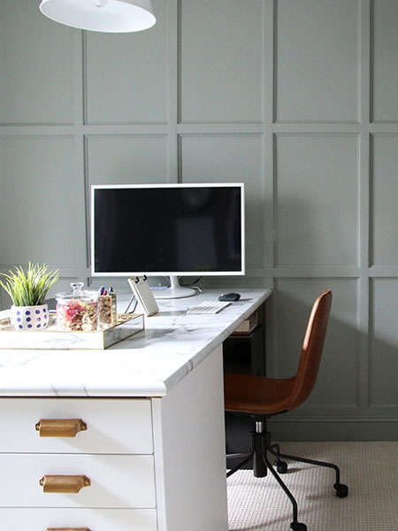 wall with faux panelling