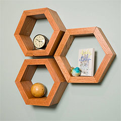 make hex shelves