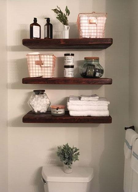 home dzine bathrooms  easy diy bathroom shelf ideas
