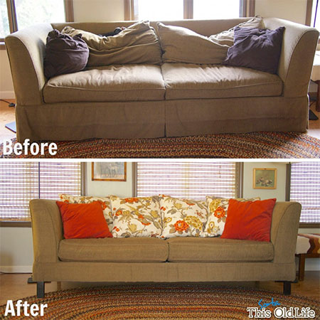 add padding to old sofa