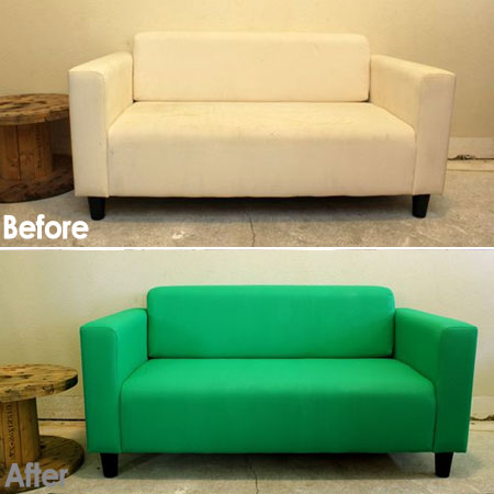 paint old sofa
