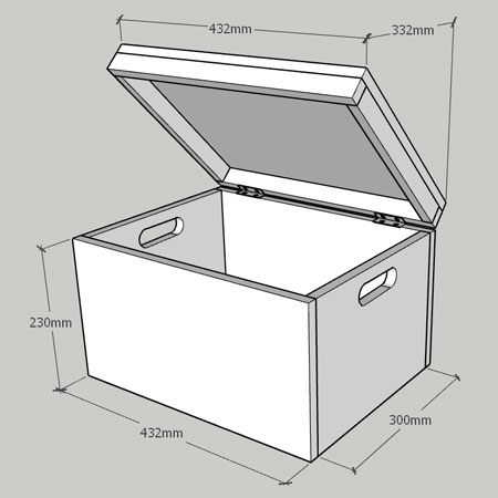 basic box toy box