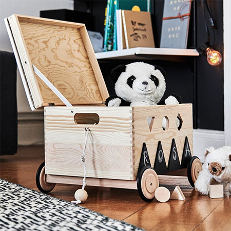 Make a Mobile Toy Box