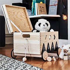 how to make mobile toy box
