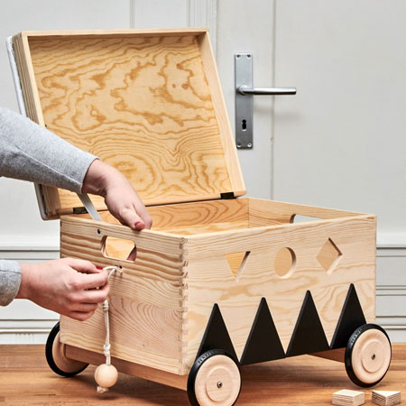 diy mobile toy box