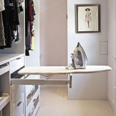 ironing facility in dressing room