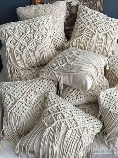 macrame pillow or cushions
